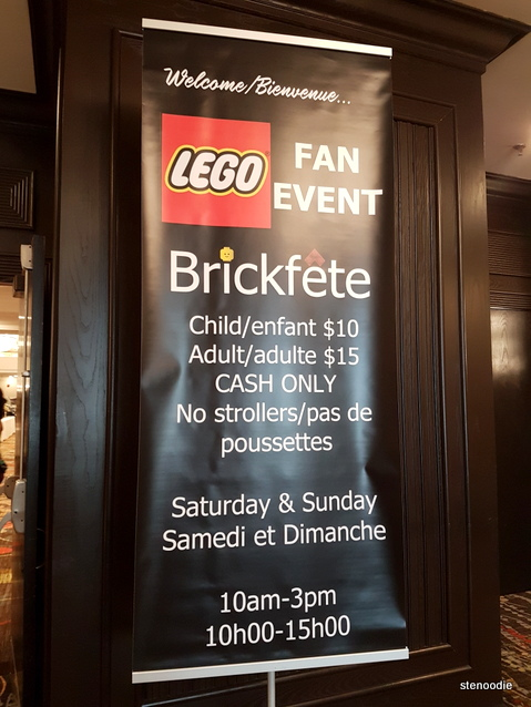 Hours and prices for Brickfete 2017