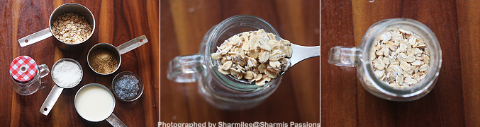 How to make Coconut overnight oats recipe - Step1