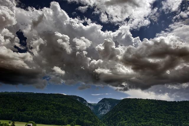 Nuage de tempête estivale sur La Combe Grède et Le Chasseral , Jura mountains, Canton of Bern ,  Switzerland No. 76.