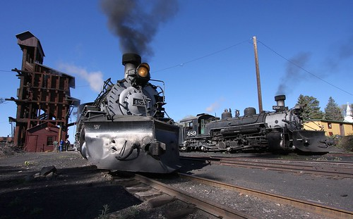 ctsrr cumbresandtoltec narrowgauge steam steamengine k36 coalingtower track train newmexico chama