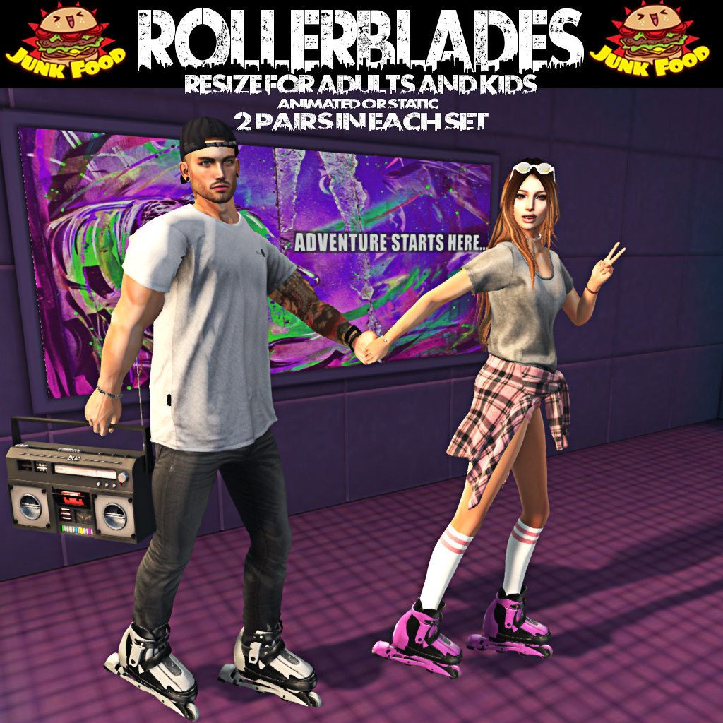 Junk Food - Gacha Guardians Rollerblade Promo - SecondLifeHub.com