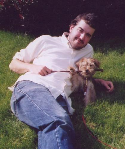 Josiah & Rudy when he was a puppy