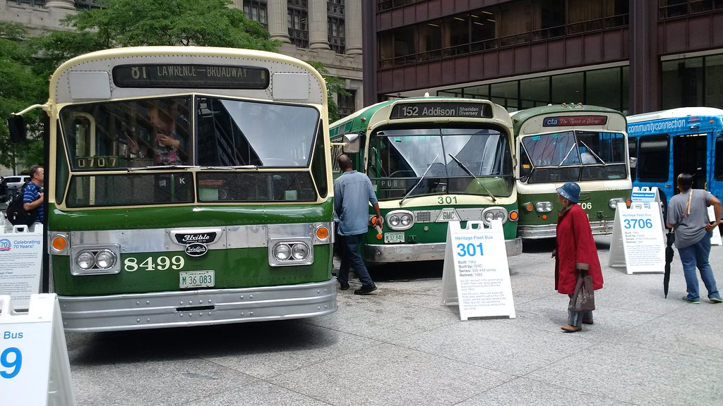 CTA Vintage Buses #6 | The three vintage buses  For a YouTub