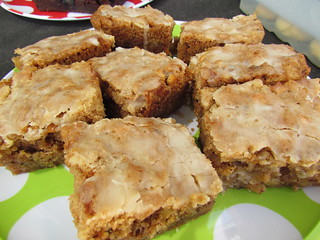 Iced Apple Cake Squares