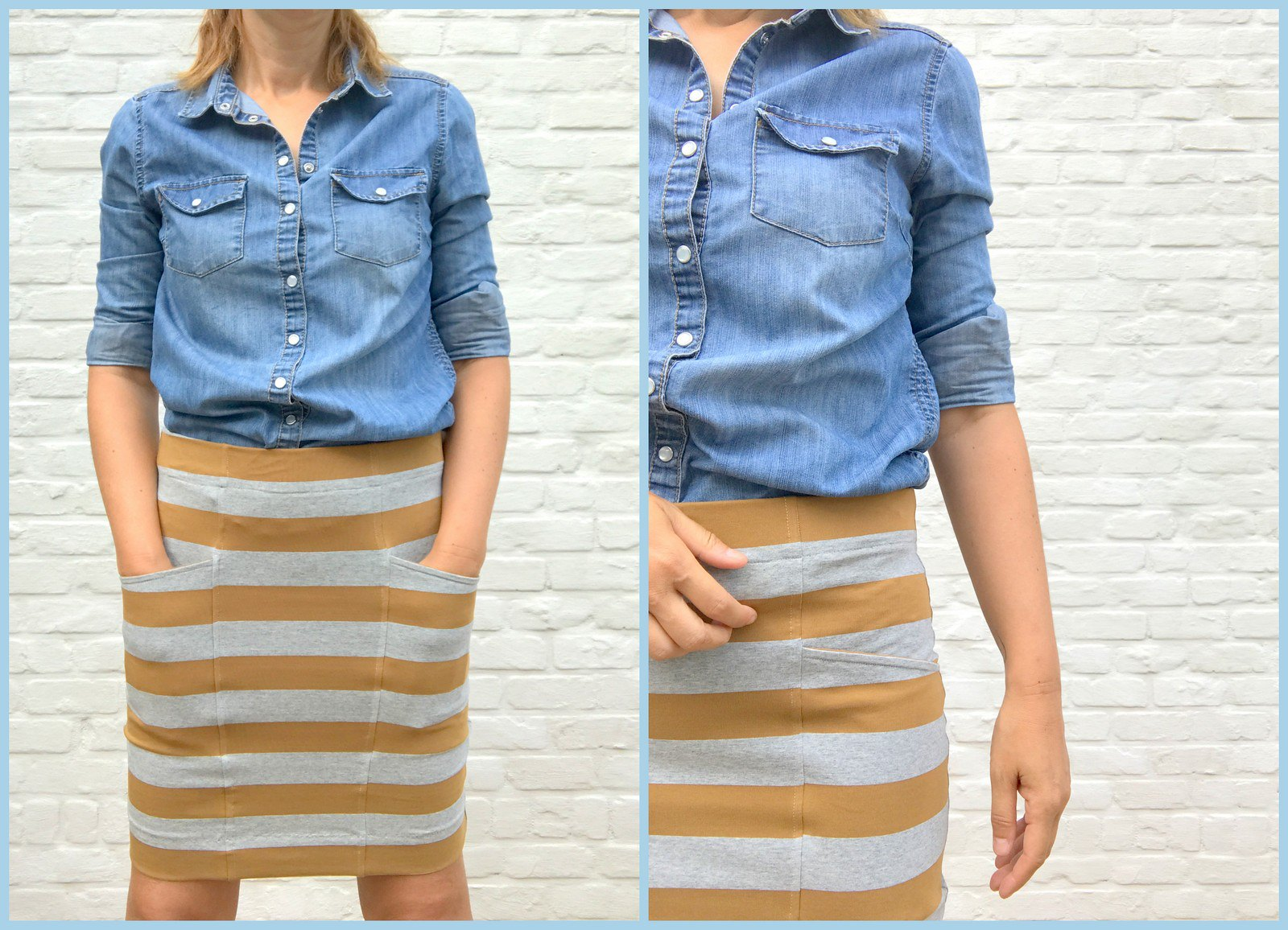 jersey skirt (collage)