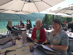 Lunch beside Lac Aiguebelette