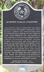 Murphy Family Cemetery marker