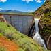 "East Canyon Reservoir Dam, Actve Spillway by Scott Stringham ""Rustling Leaf Design"""