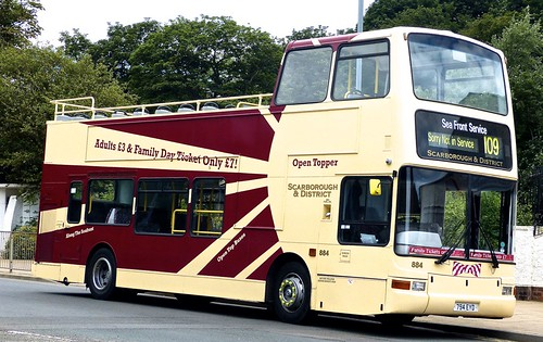 794 EYD 'Scarborough & District' No. 884 Volvo B7TL  / Plaxton President  on 'Dennis Basford's railsroadsrunways.blogspot.co.uk'