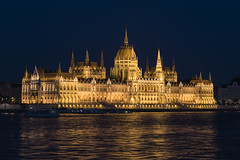Budapest parliment at night