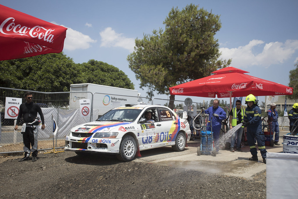 15 PANTELI Petros (cyp) and CHRISTODOULOU Kyprianos (cyp) Q8 OILS RALLY TEAM MITSUBISHI LANCER EVO IX action during the 2017 European Rally Championship ERC Cyprus Rally,  from june 16 to 18  at Nicosie, Cyprus - Photo Gregory Lenormand / DPPI