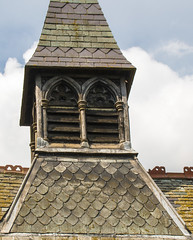 Church tower close up