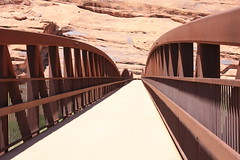 Foot bridge in the desert