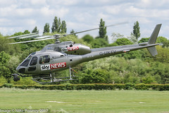 G-UKTV - 1990 build Aerospatiale AS355F2 Ecureuil II, departing down Runway 26 at Barton