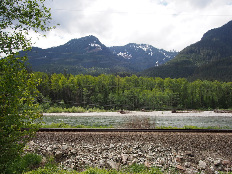 Mountains, South Fork Skykomish River, and BNSF Mainline