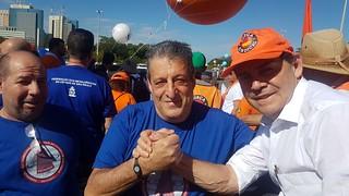 Paulinho da Força participa da marcha para Brasília
