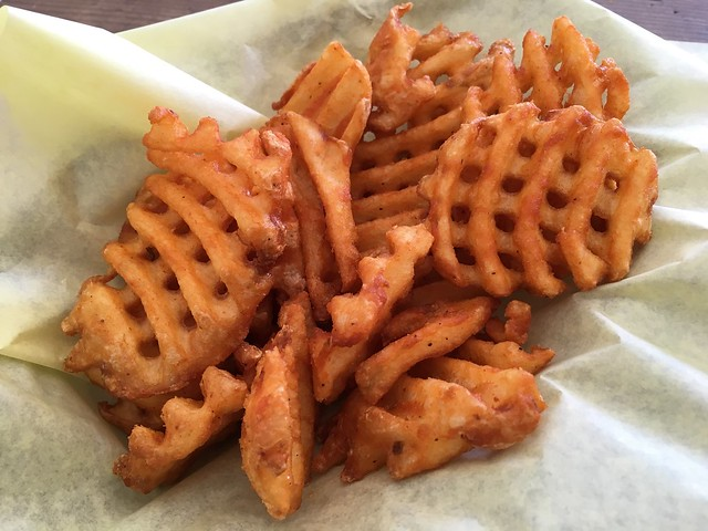 Cross-cut waffle fries - Phat Philly