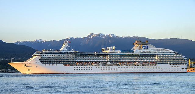 Coral Princess Leaving Vancouver, BC for Alaska