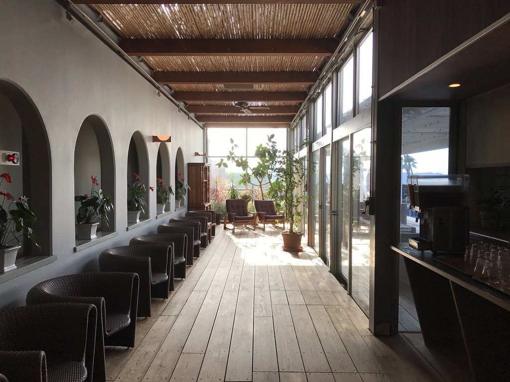 大浴場前の休憩所的スペース