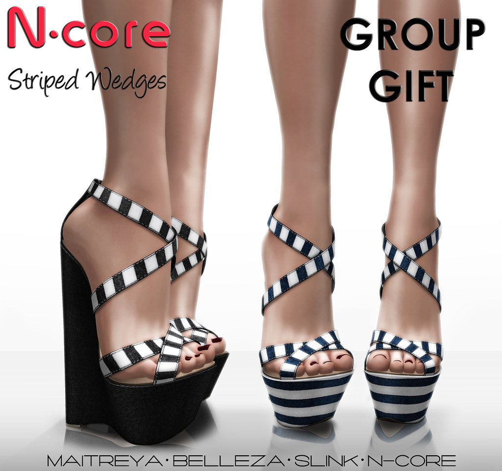 "N-core ""Striped Wedges"" New GROUP GIFT! "" - SecondLifeHub.com"