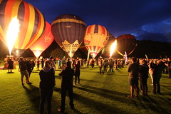 Balloons in Durham at Night