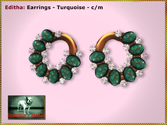 Bliensen - Editha - turquoise - earrings