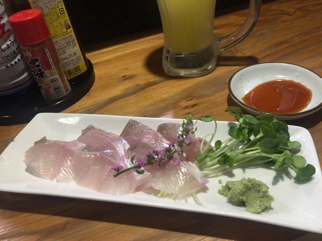 Sashimi, Anago sushi, Sake at Masurao, Monzen Nakacho