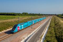 12 juin 2017 TGV D 770 Train 804504 Bordeaux -> St-Pierre-des-Corps Aubie-St-Antoine (33) - Photo of Marcenais