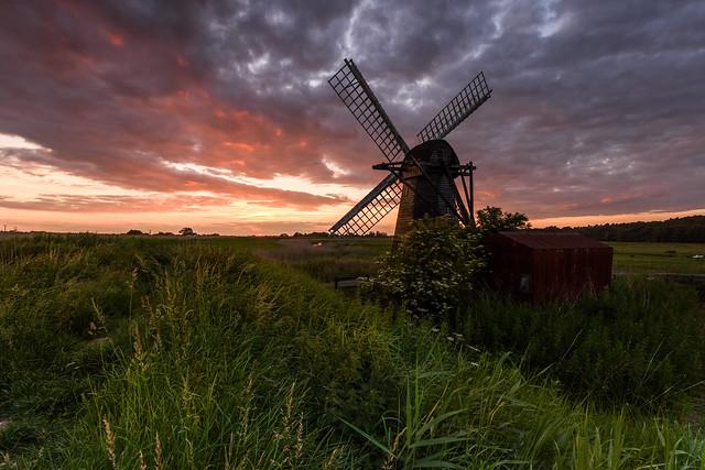 Sunset at Herringfleet, Nikon D810, AF-S Nikkor 16-35mm f/4G ED VR