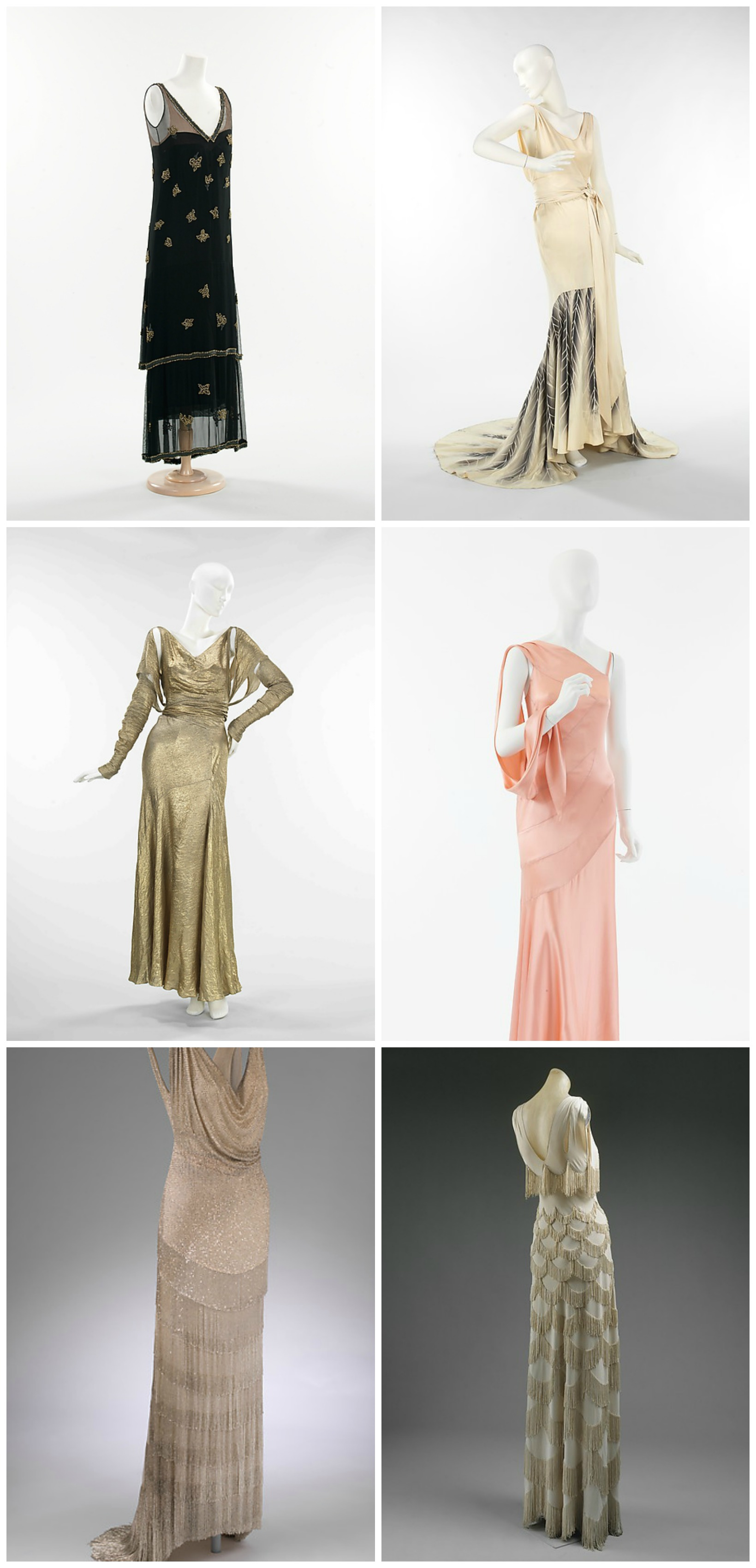 1930s Evening gowns. metmuseum