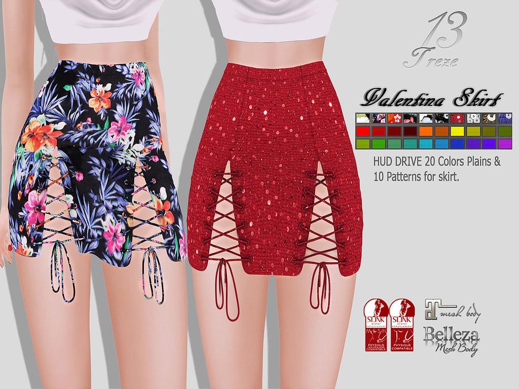 ★13 Treze★ Valentina Skirt - SecondLifeHub.com