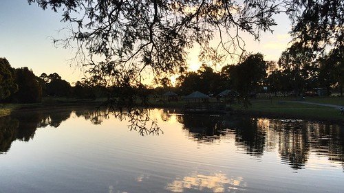 2017 lake water sunset landscape iphone6plus queensland meadowbrook park riverdale australia logan city