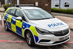 Kent Police Vauxhall Astra GN66 CCF