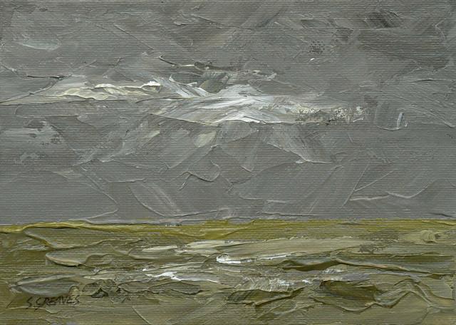 The Marsh - Original Landscape Painting by Steve Greaves