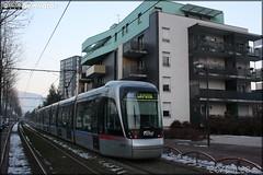 Alstom Citadis - Sémitag (Société d'Économie MIxte des Transports publics de l'Agglomération Grenobloise) / TAG (Transports de l'Agglomération Grenobloise) n°6011
