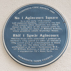 Photo of 1 Agincourt Square, Monmouth blue plaque