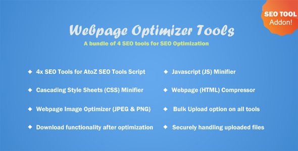 Webpage Optimizer Tools v1.0 - AtoZ SEO Tools Add-ons
