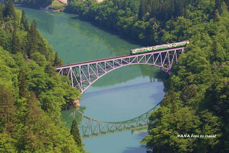 日本東北-福島-只見川第一鐵橋樑 (18)