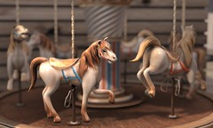 "The Arcade - Tabletop Carousel Souvenir by Anya Ohmai | WindLight sky is ""Poly 4"" by Polyhistor Serpente"