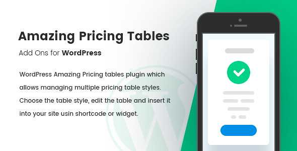 Amazing Pricing Tables WordPress Plugin free download