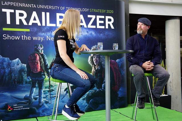Jamie Hyneman visiting Lappeenranta University of Technology