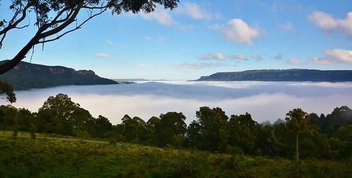 A Foggy Blanket over Kangaroo Valley