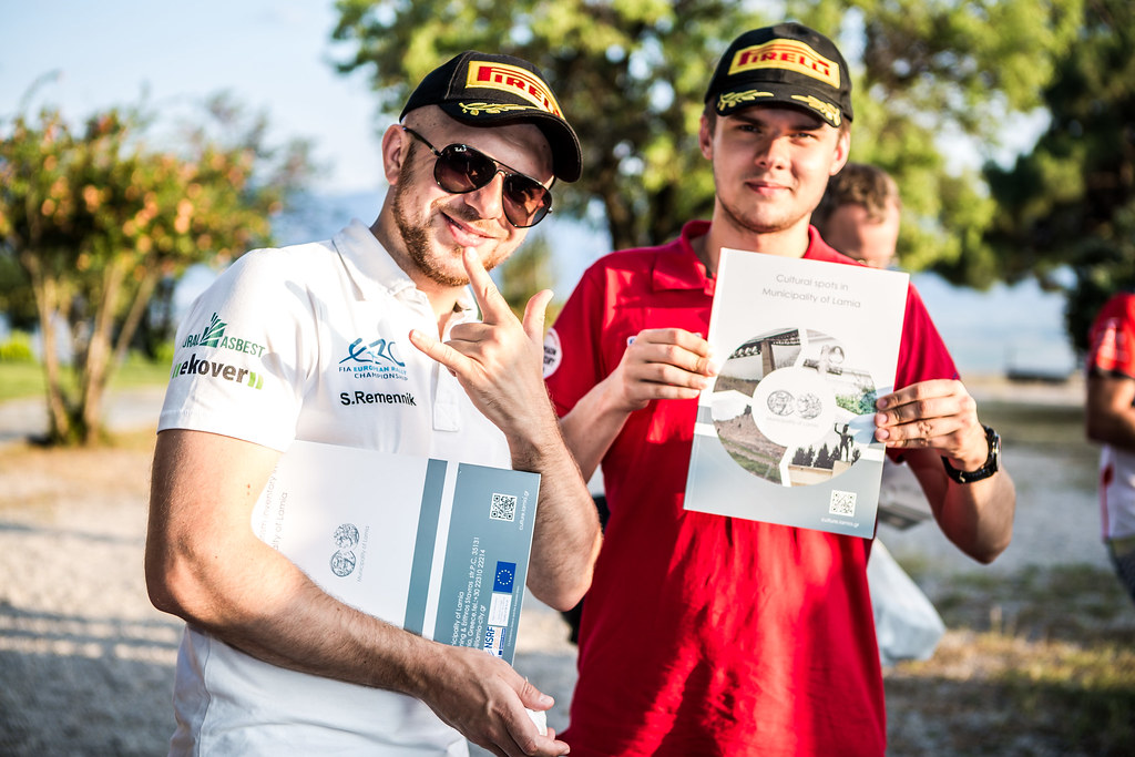 REMENNIK Sergei (rus) and GRYAZIN Nikolay (lva) ambiance portrait during the European Rally Championship 2017 - Acropolis Rally Of Grece - From June 2 to 4 - Photo Thomas Fenetre / DPPI