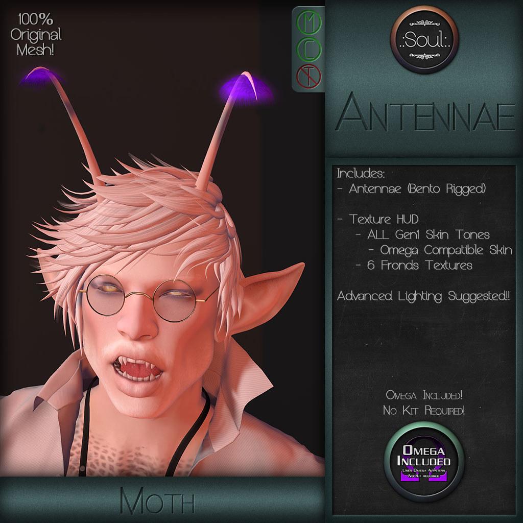 .:Soul:. Antennae - Moth - SecondLifeHub.com