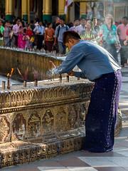 Myanmar - Prayers At Shwedagon Temple