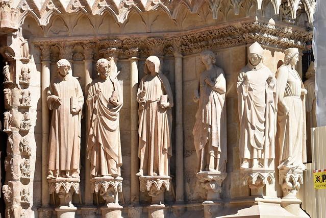 Portail nord de la cathédrale de Reims