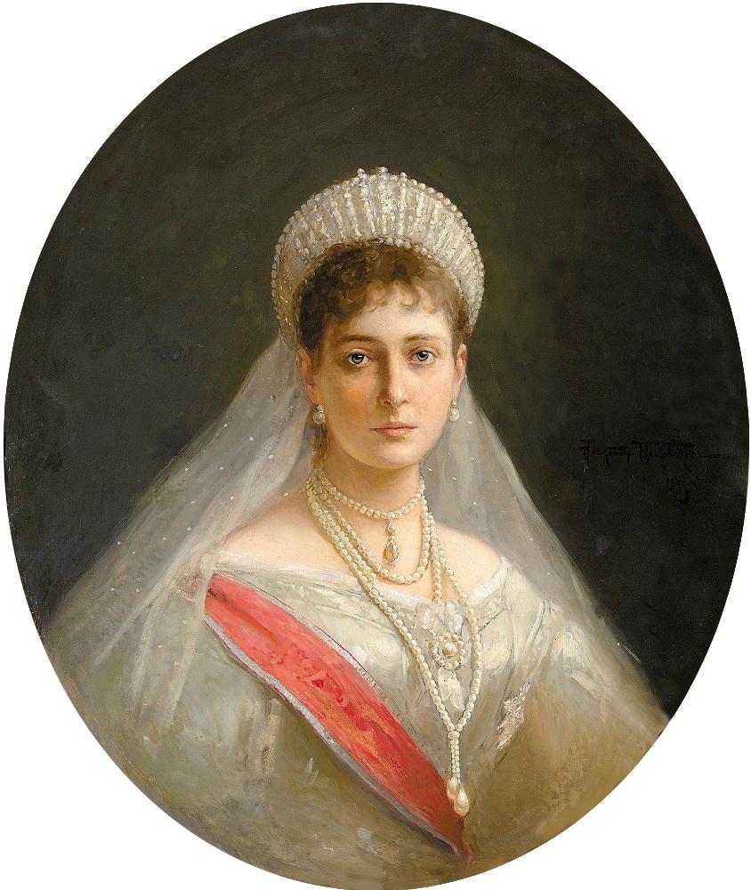 Alexandra Fedorovna by A.Makovskiy (1903)