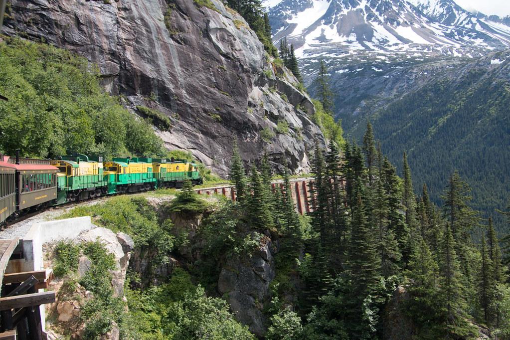 Views from White Pass train