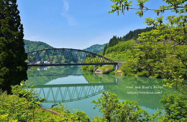 日本福島旅遊景點只見線橋梁拍攝點鐵道火車0017