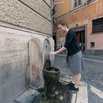 Getting water in Rome